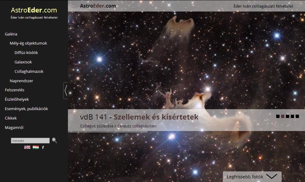 AstroEder.com homepage