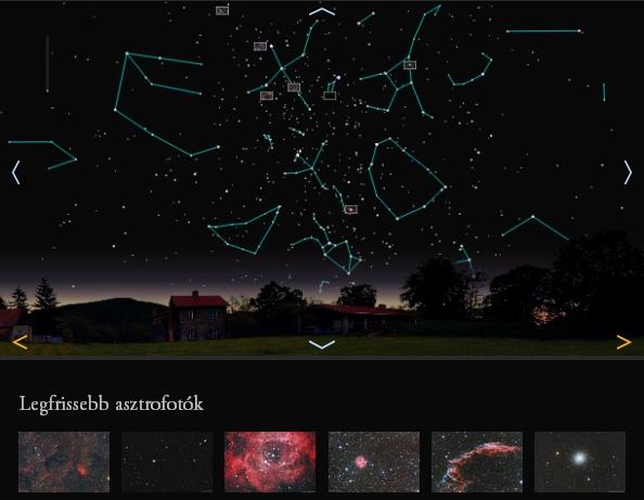 bzpc.hu homepage - interactive star map