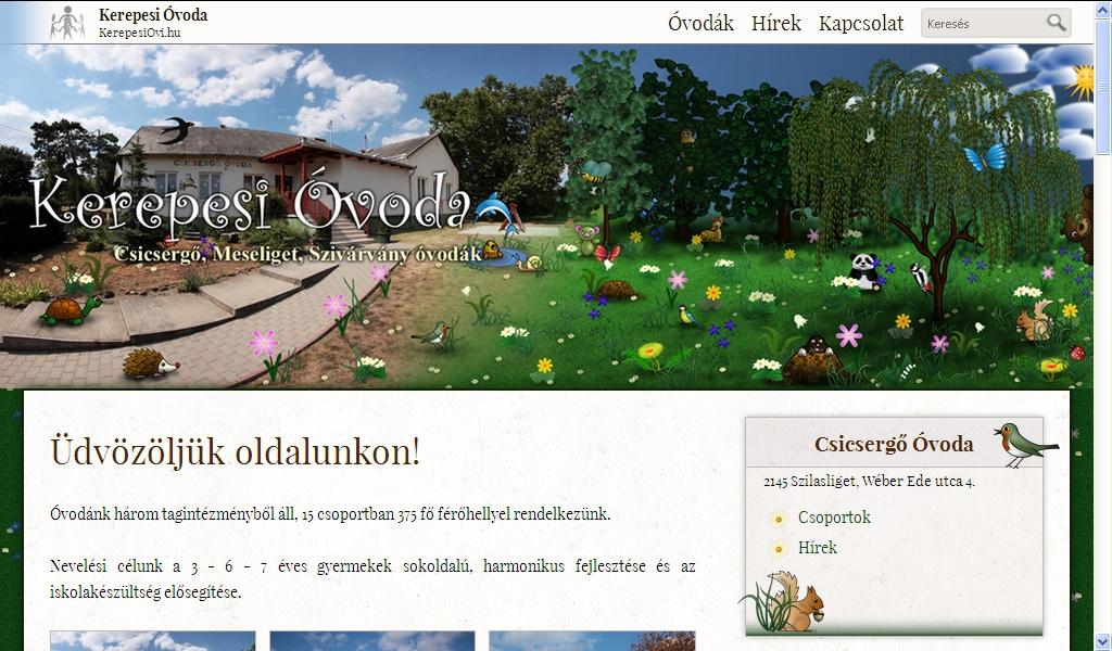 KerepesiOvi.hu homepage.